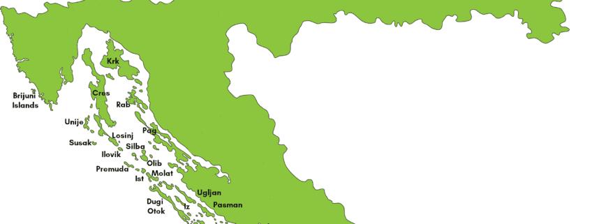 Map of Croatian islands