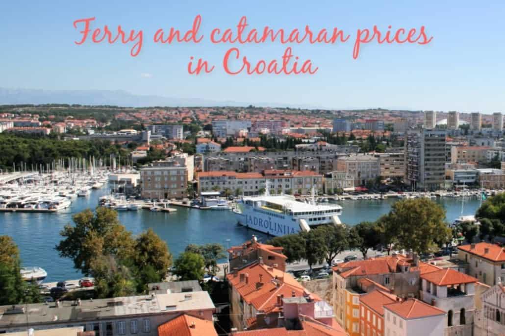 Ferry and catamaran prices in Croatia