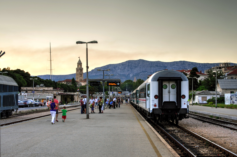 Interrailing in Croatia - Split Train Station