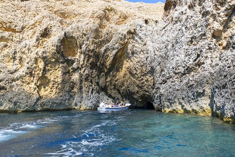 Blue Cave Entrance