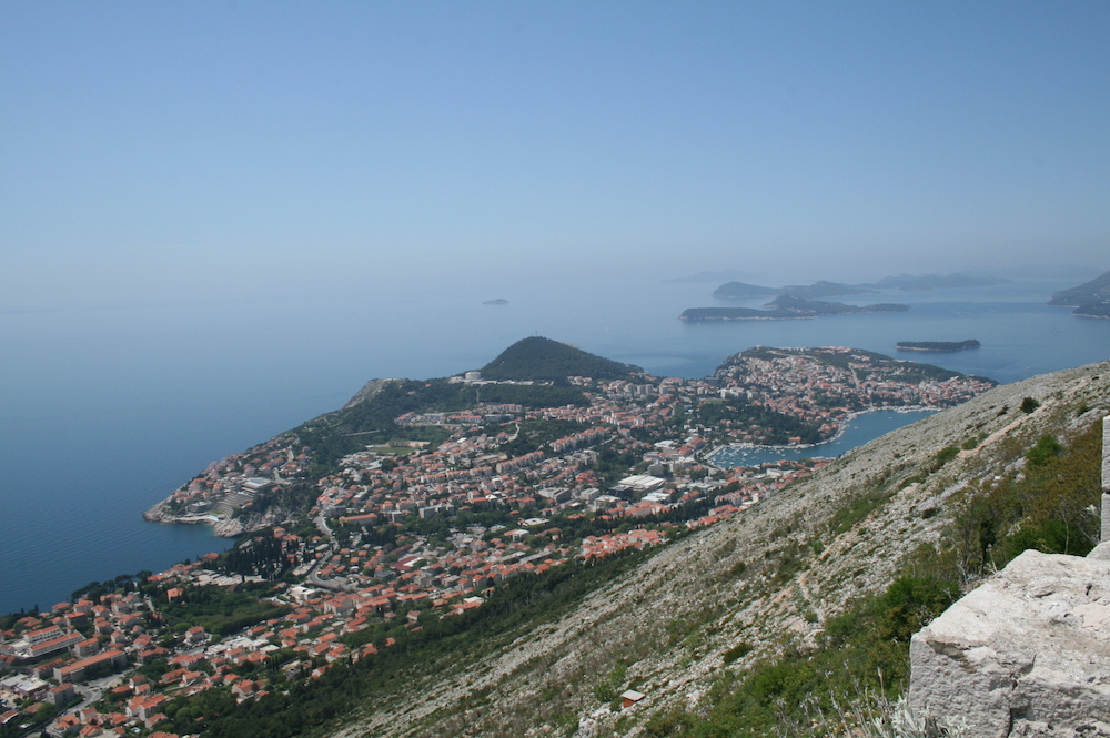 View from Mount Srd, Dubrovnik