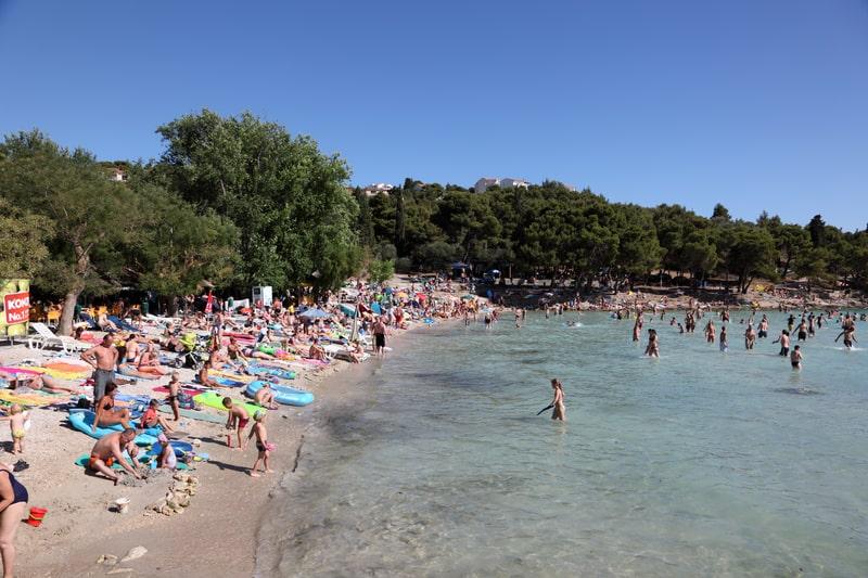 Slanica Beach on Murter