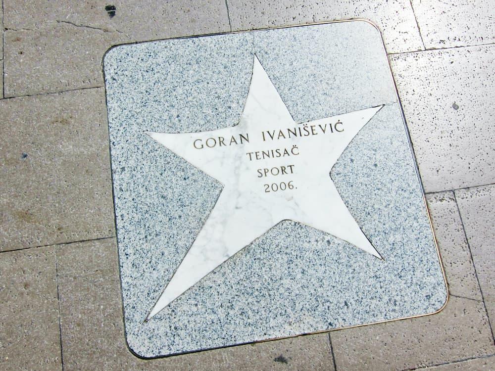Croatian Walk of Fame - tennis player Goran Ivanisevic